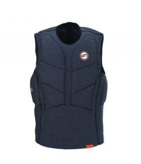Chaleco Impacto Prolimit Stretch Vest XF Half Padded  Fz Azul/naranja