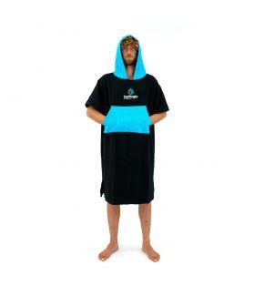 Poncho Surflogic Negro / Azul