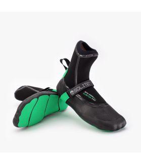 Escarpines / Bota Neopreno Solite Custom Pro 3mm Negro / Verde