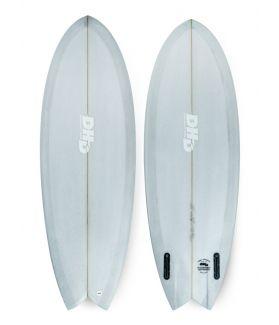 Tabla Surf DHD Mini Twin II Asher Pacey 5´3´´ Grey Resin Tint FUTURES