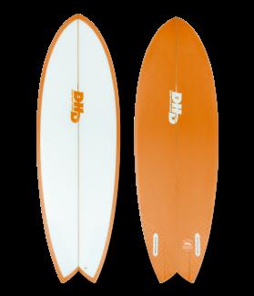 Tabla Surf DHD Mini Twin II 5´3´´ NARANJA FUTURES