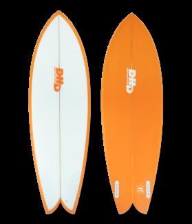 Tabla Surf DHD Mini Twin 5´5´´ NARANJA FUTURES