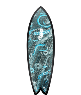 TABLA SURF DHD MINI TWIN Asher Pacey 5'3'' BLUE SCARLET FUTURES