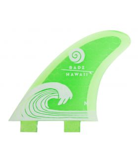 Quillas Surf Radz Hawaii Waikiki M Green FCS