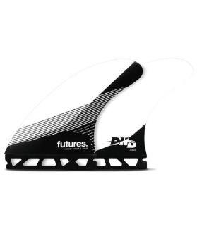 Quillas Surf Futures DHD HC Thruster Negro/Blanco