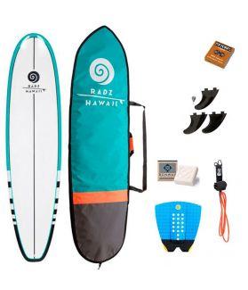 PACK COMPLETO SURF RADZ HAWAII MINI MALIBU 7'6''