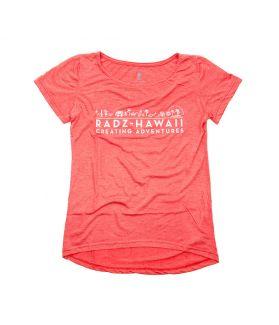 Camiseta Manga Corta Mujer Radz Hawaii Jaspeda Teja