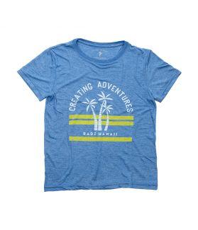 Camiseta Manga Corta Niño Radz Hawaii Palmeras Marino