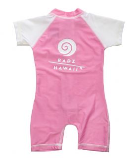 LYCRA SHORTY / MONO RADZ HAWAII BEBE ROSA / BLANCO