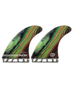 Quillas Surf Feather Fins Performance Twin FUTURES VERDE