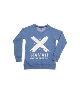 Sudadera Mujer Radz Hawaii X Azul