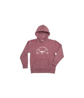SUDADERA CAPUCHA JUNIOR RADZ HAWAII SHARK BURDEOS