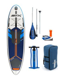 PACK TABLA SUP HINCHABLE STX FREERIDE NEGRO/NARANJA 10'6''