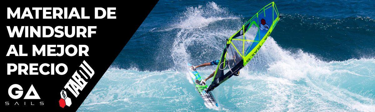 Gran oferta material windsurf: Tablas, velas, accesorios, ... Al mejor precio